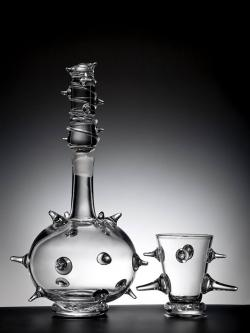 SALT's unique collection of Decanters are inspired by medieval Frankish Rhineland glass